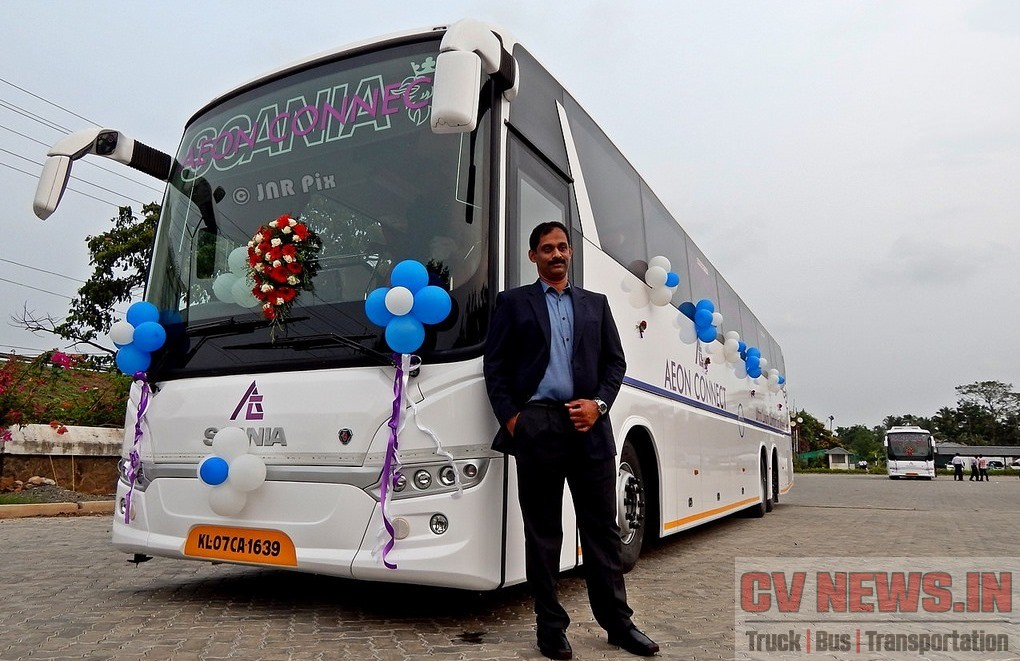 EVM Scania MD Mr.Jimmy Jose with Aeon Connect