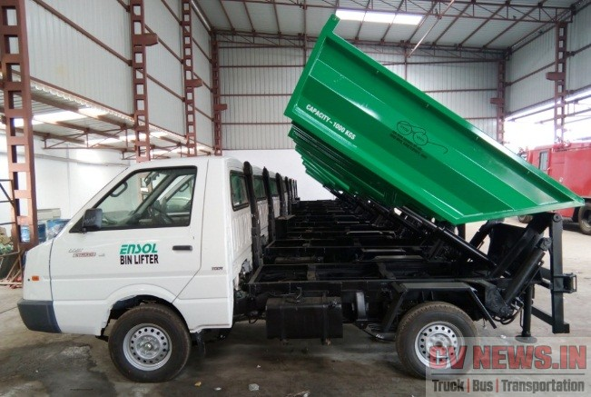 Ashok Leyland Dost with bin lifter