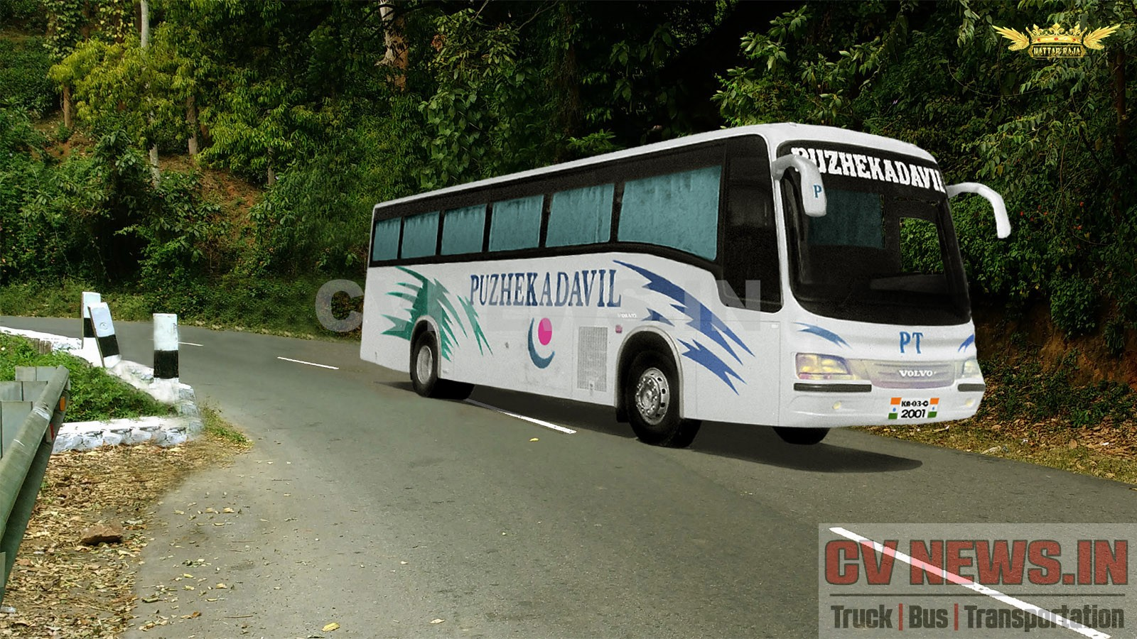 Volvo B7R - Puzhekadavil Rendered