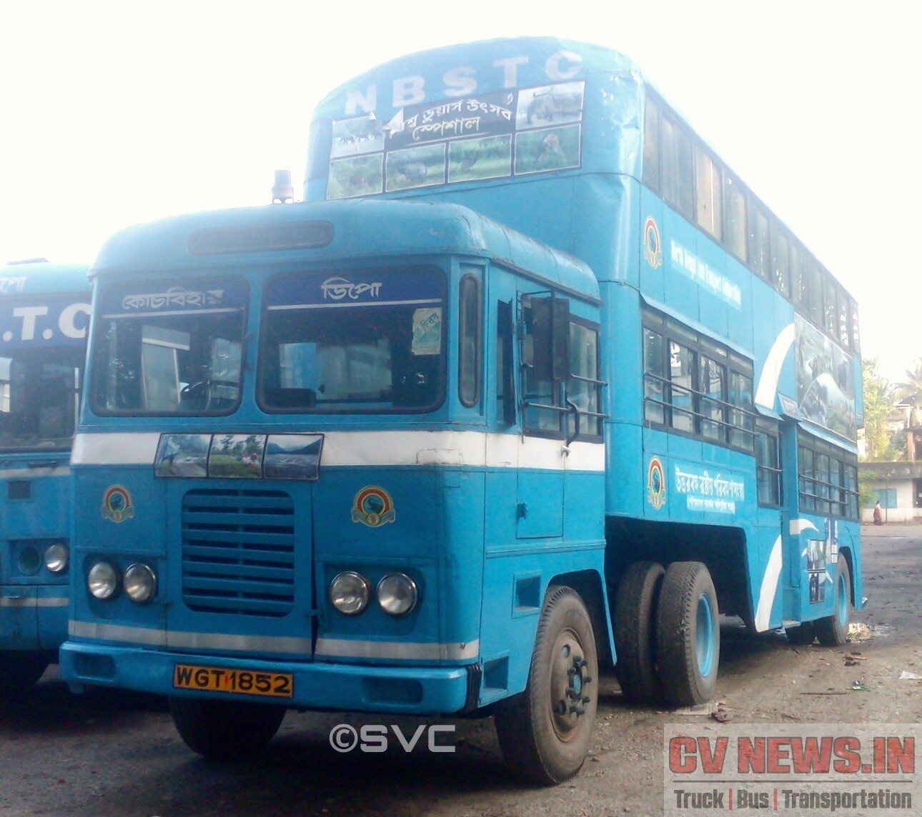 The surviving Double Decker Trailer bus (Ashok Leyland Comet) of NBSTC