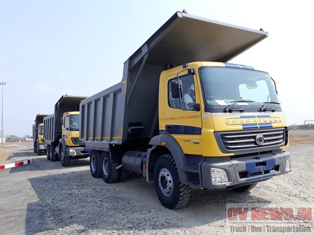 BharatBenz 2528 BS4 demo at Daimler's test track