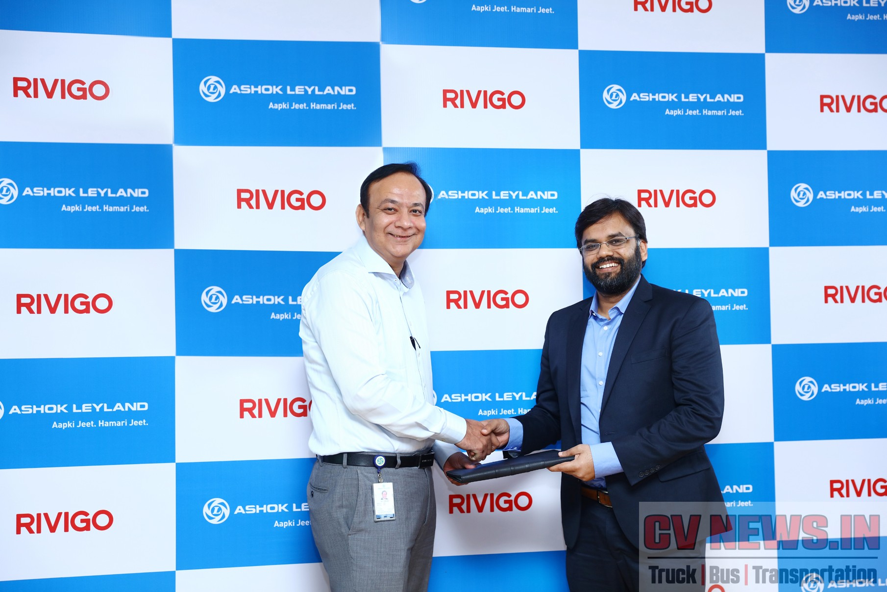Image - (L-R) Mr. Anuj Kathuria, President - Global Trucks, Ashok Leyland and Mr. Deepak Garg, Founder and Chief Executive Officer, Rivigo,