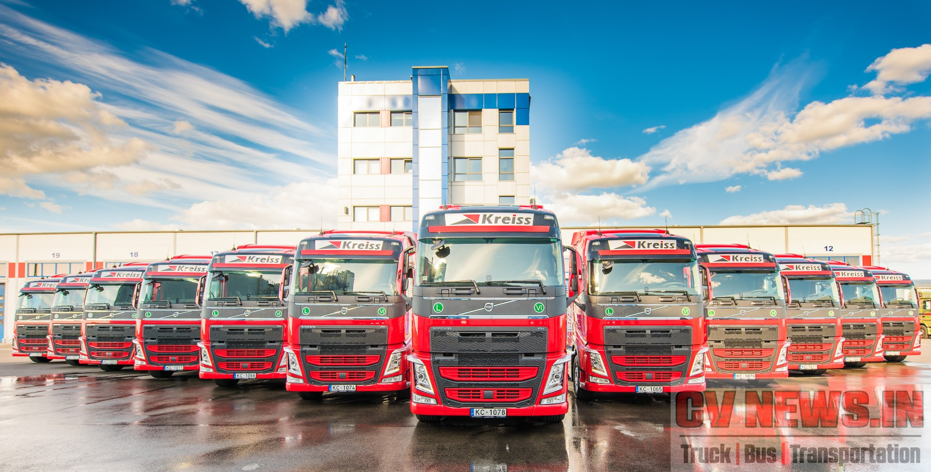 Fleet of Volvo FH