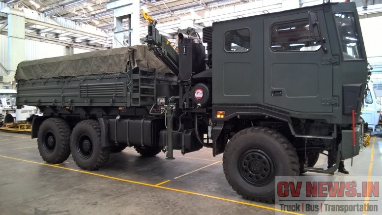 Tata LPTA 2038 6x6 High Mobility Vehicle with truck mounted crane